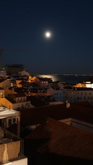 Moon over Lisbon