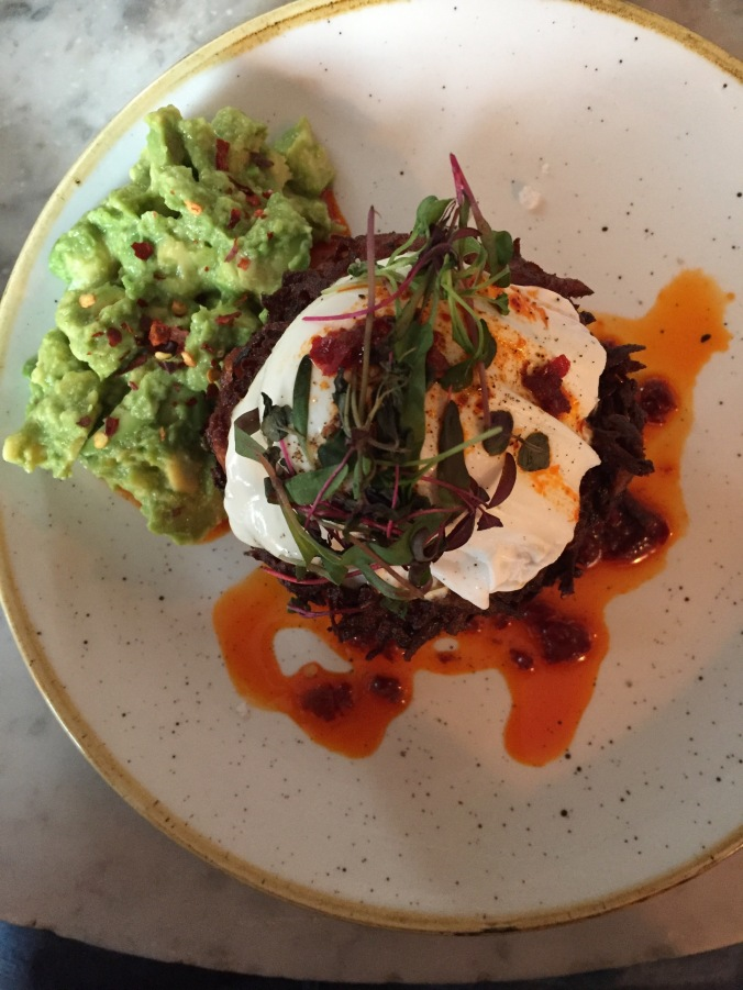 Sweet Potato Cakes at Shoreditch Grind
