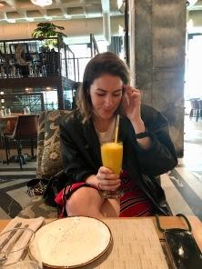 Me enjoying my juice